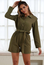 Load image into Gallery viewer, Long Sleeve Belted Romper - Arona XO