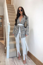 Load image into Gallery viewer, High Waist Side-slit Pencil Pants - Arona XO
