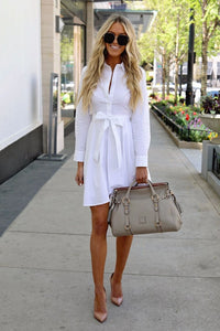Front Tie Shirt Dress - Arona XO