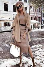 Load image into Gallery viewer, Camel Shawl Coat - Arona XO