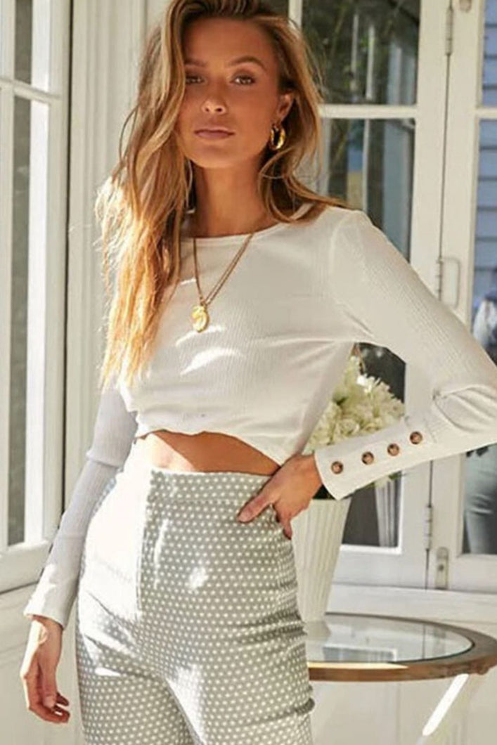 Long Sleeve Crop Top - Arona XO
