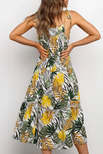 Load image into Gallery viewer, Leaf Print Midi Dress - Arona XO