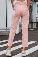 Load image into Gallery viewer, Gingham High Waist Pencil Pants - Arona XO