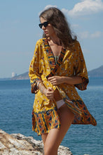Load image into Gallery viewer, Short Swimsuit Cover-up Kimono - Arona XO