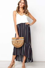 Load image into Gallery viewer, Striped Dovetail Skirt - Arona XO