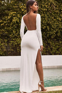 Backless Bodycon Maxi Dress - Arona XO