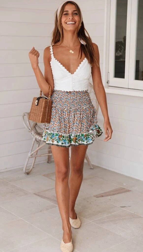 Boho Mini Skirt - Arona XO