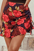Load image into Gallery viewer, Rose Print Drawstring Mini Skirt - Arona XO