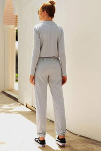 Long Sleeve Zipper Jumpsuit - Arona XO