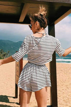 Load image into Gallery viewer, Striped Crop Top & Shorts Set - Arona XO