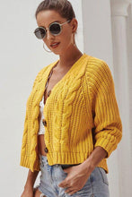 Load image into Gallery viewer, Short-length Knitted Cardigan