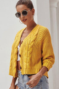 Short-length Knitted Cardigan