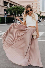 Load image into Gallery viewer, High Waisted Pleated Maxi Skirt - Arona XO