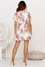 Load image into Gallery viewer, Short Sleeve Mini Lace-up Dress