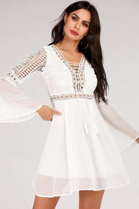 Crochet Mini Dress - Arona XO