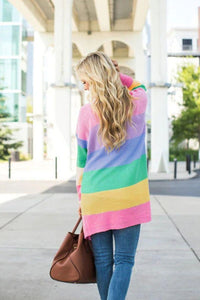 Long Sleeve Rainbow Cardigan - Arona XO