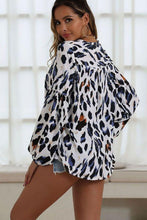 Load image into Gallery viewer, Leopard Print Lantern Sleeve Blouse - Arona XO