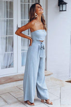 Load image into Gallery viewer, Lace-up Wide Leg Jumpsuit - Arona XO