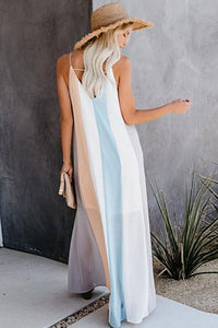 Block Stripe Maxi Dress - Arona XO