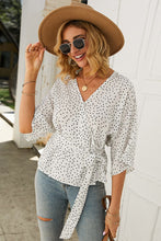 Load image into Gallery viewer, Polka Dot Wrap Blouse - Arona XO