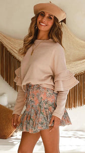 Flare Sleeve Loose Sweater - Arona XO