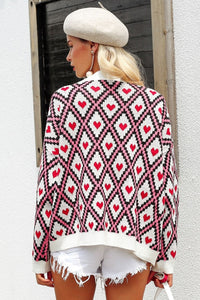Single-breasted Knitted Cardigan - Arona XO