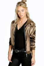 Load image into Gallery viewer, Satin Bomber Jacket - Arona XO
