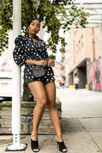 Load image into Gallery viewer, Belted Polka Dot Romper - Arona XO