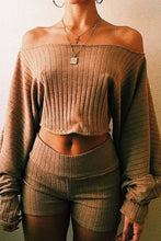 Load image into Gallery viewer, Loose Lantern Sleeve Crop Top - Arona XO