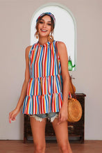 Load image into Gallery viewer, Striped Sleeveless Blouse - Arona XO