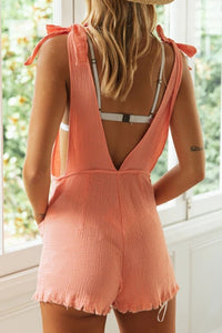 Sleeveless Back Cutout Romper - Arona XO