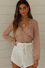 Load image into Gallery viewer, Lace Up Boho Blouse - Arona XO