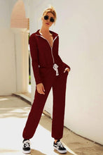 Load image into Gallery viewer, Long Sleeve Zipper Jumpsuit