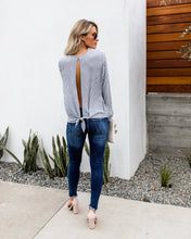 Load image into Gallery viewer, Knotted Long Sleeve Blouse - Arona XO