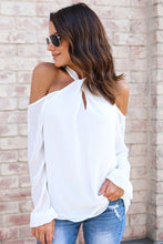 Load image into Gallery viewer, Halter Cold Shoulder Blouse - Arona XO