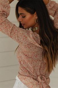 Lace Up Boho Blouse - Arona XO