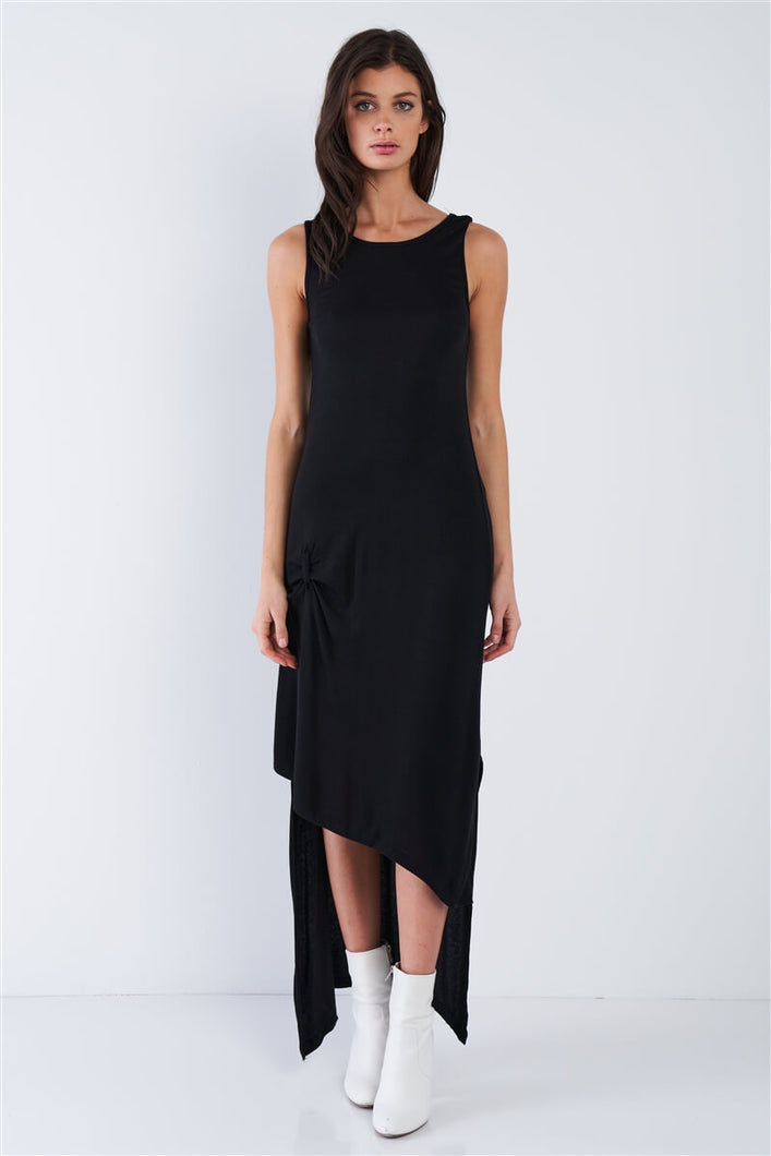 High-Low Rib Knit Maxi Dress - Arona XO