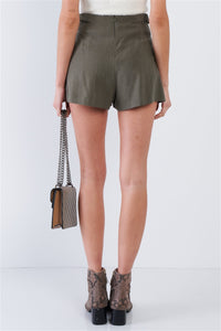 High Waist Pleated Shorts - Arona XO
