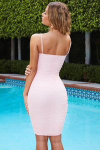 Ruched Mesh Bodycon Mini Dress - Arona XO