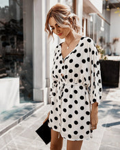 Load image into Gallery viewer, Flowy Polka Dot Mini Dress - Arona XO