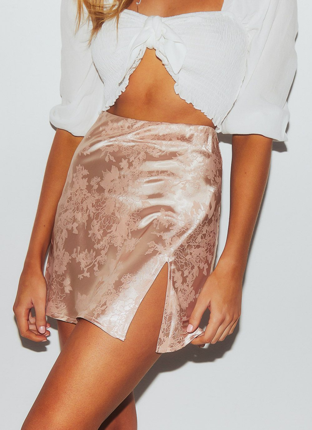 Jacquard Side-slit Skirt - Arona XO