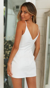 V Neck Bodycon Mini Sundress - Arona XO