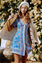 Load image into Gallery viewer, Floral Print Boho Mini Dress - Arona XO