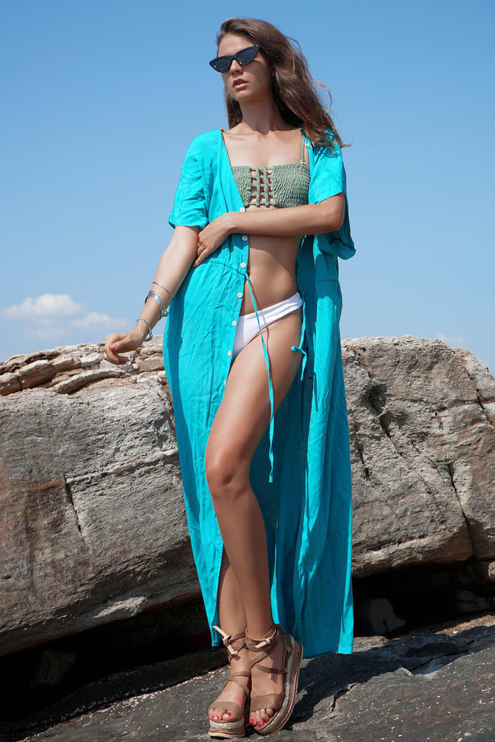 Loose Swimsuit Cover-up Maxi Dress - Arona XO