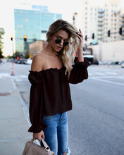 Load image into Gallery viewer, Off-the-Shoulder Drawstring Blouse - Arona XO