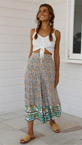 Loose Wide Leg Floral Pants - Arona XO
