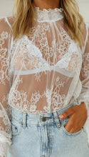 Load image into Gallery viewer, Sheer Lace Blouse - Arona XO
