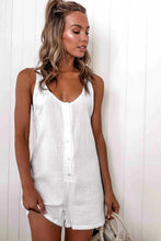 Load image into Gallery viewer, Sleeveless Button-Up Romper - Arona XO