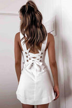 Load image into Gallery viewer, Lace-up Back Mini Dress - Arona XO