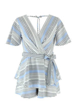 Load image into Gallery viewer, Flare Sleeve Surplice Romper - Arona XO